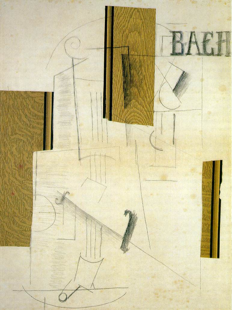 Souvent Still life BACH, 1912 - Georges Braque - WikiArt.org RG39
