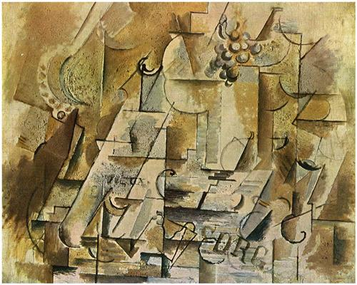 Still Life with a Bunch of Grapes - Georges Braque