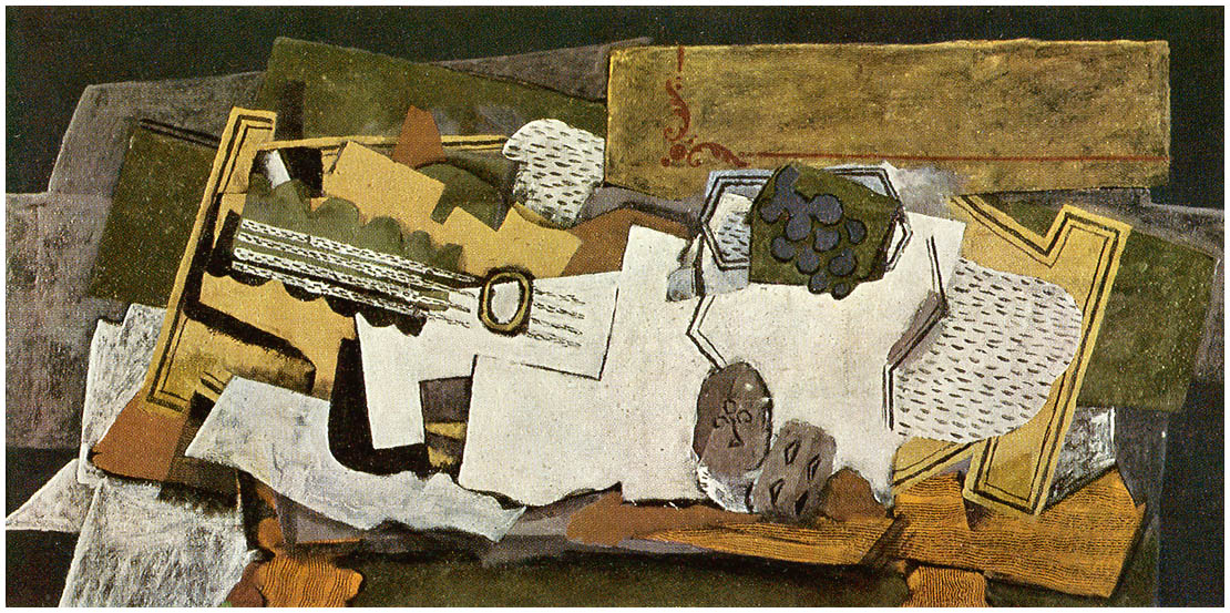 Bien connu Still Life with a Guitar, 1919 - Georges Braque - WikiArt.org JL87