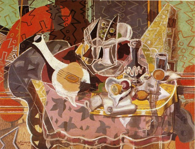 Still Life with Music Scroll, c.1937 - Georges Braque