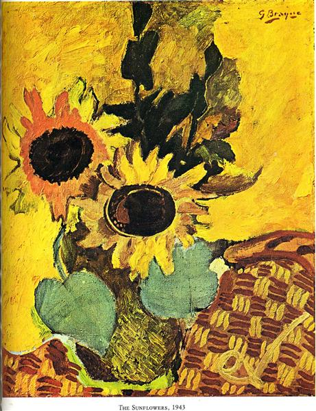 The sunflowers, 1943 - Georges Braque