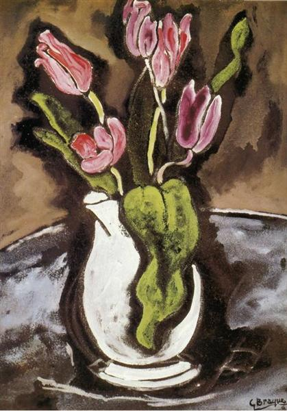 Vase of Tulips, 1927 - Georges Braque