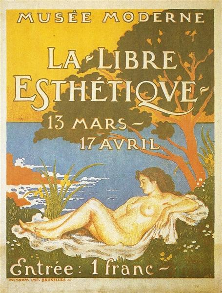 Exhibition poster for La Libre Esthétique, 1910 - Georges Lemmen