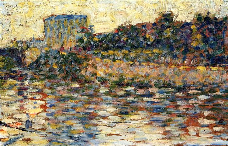 Courbevoie, Landscape With Turret, 1883 - 1884 - Georges Seurat