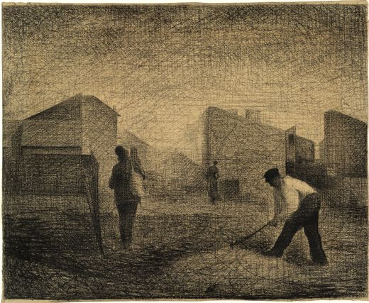 Stone breakers, Le-Raincy, 1881 - Georges Seurat