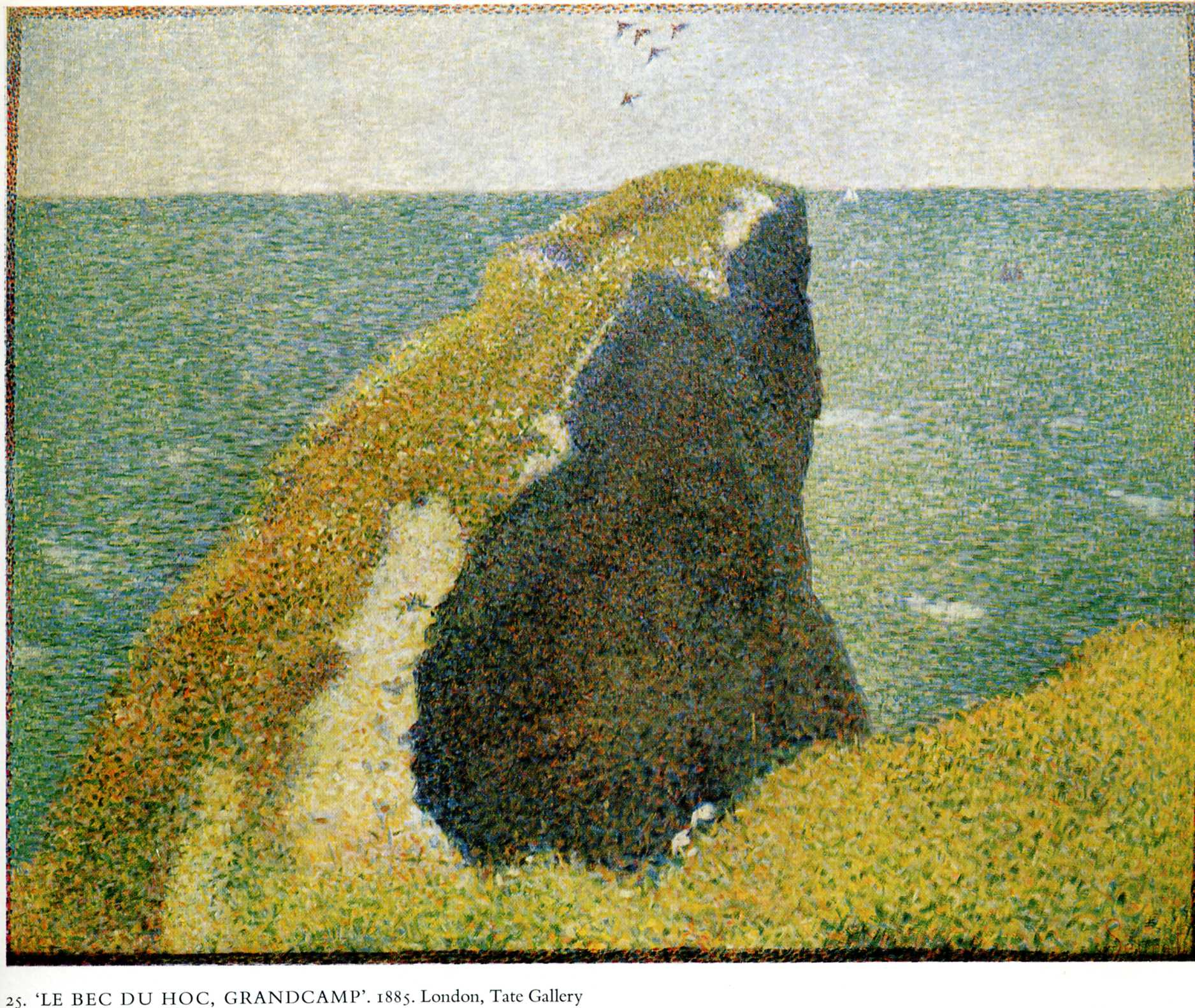 The Bec du Hoc, Grandcamp, 1885 - Georges Seurat - WikiArt.org