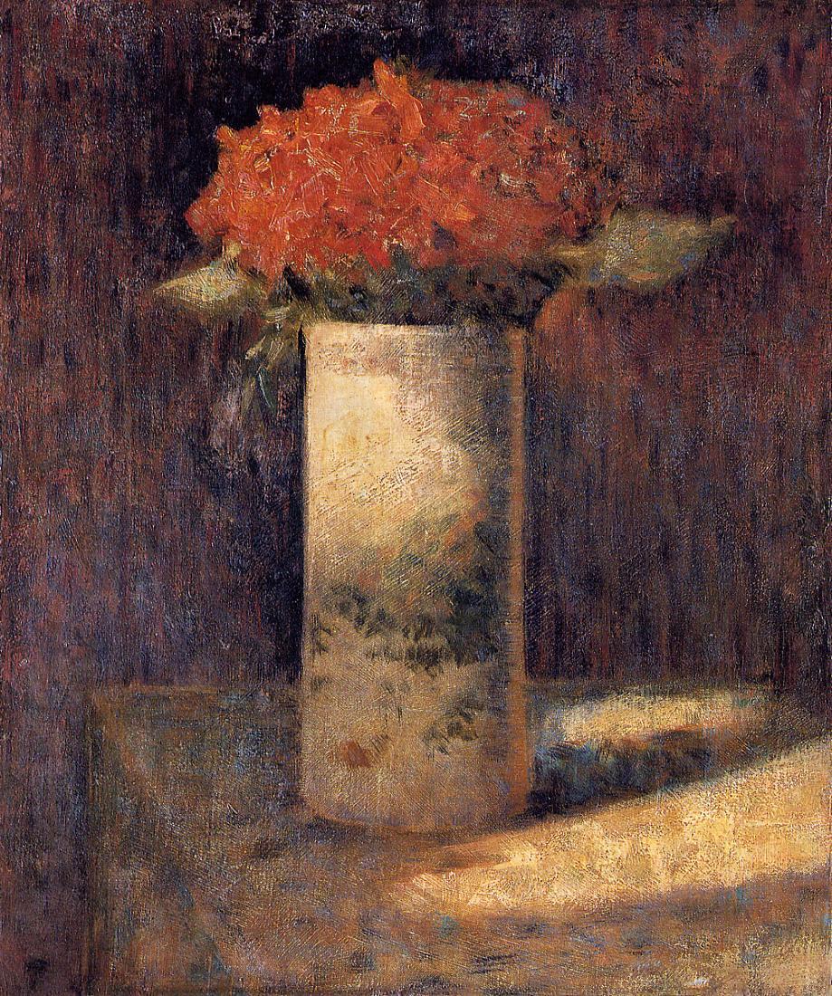 vase of flowers 1878 1879 georges seurat wikiart org