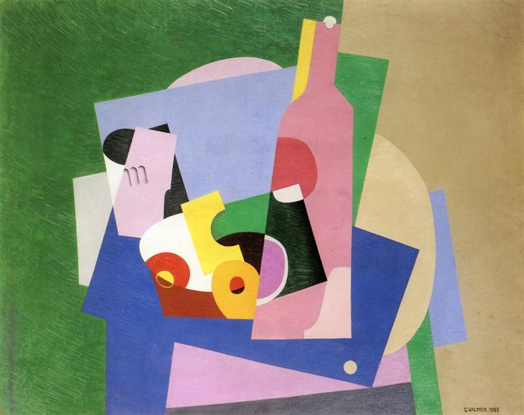 Still Life with Bottle, 1923 - Georges Valmier