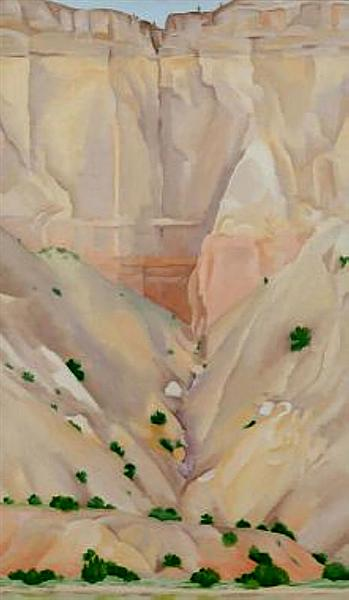 Cliffs Beyond Abiquiu, Dry Waterfall, 1943 - Georgia O'Keeffe