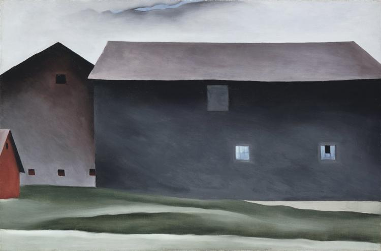 Lake George Barns - Georgia O'Keeffe