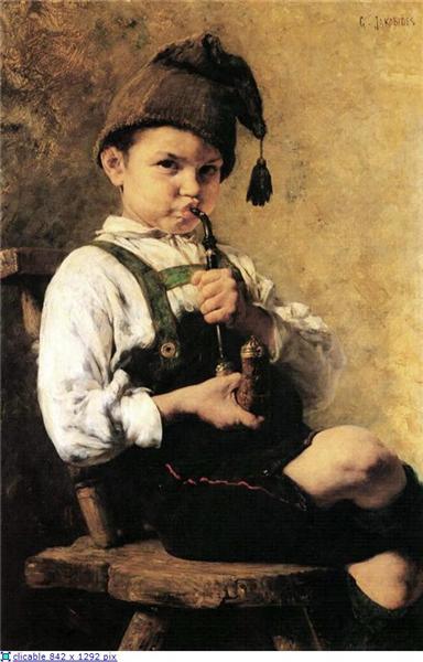 The Smoker, 1886 - Georgios Jakobides