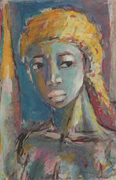 HEAD OF A WOMAN, 1975 - Gerard Sekoto