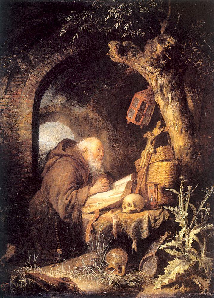 the hermit 1670 gerrit dou wikiartorg