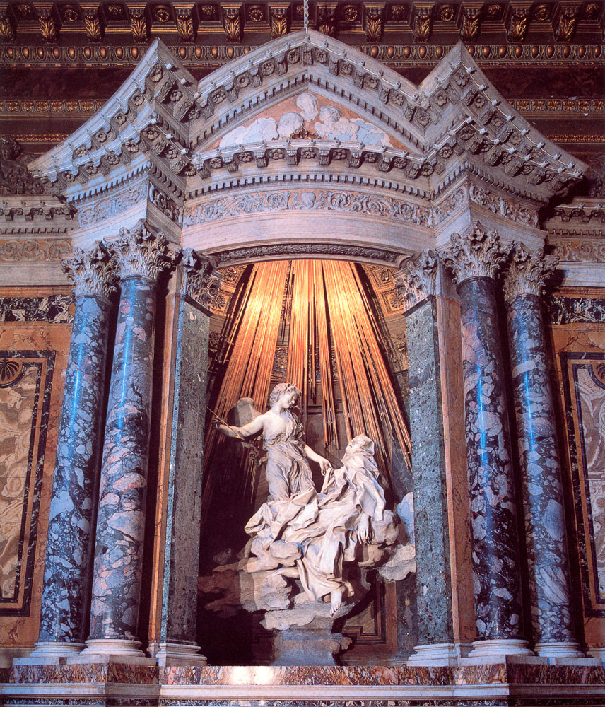 gianlorenzo bernini ecstasy of saint theresa Critical, fall 2017 friday 11/10/2017 gian lorenzo bernini the ecstasy of  saint teresa (1647–1652) photo: livioandronico2013 - own work, cc by-sa  40,.
