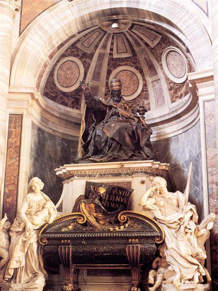 Tomb of Pope Urban VIII, 1627 - 1647 - Gian Lorenzo Bernini