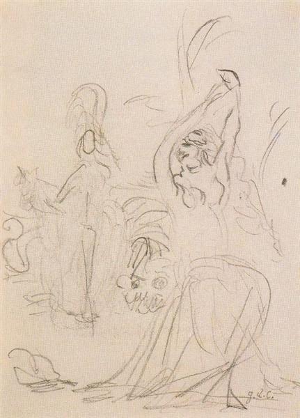 Bacchanal scene - Giorgio de Chirico