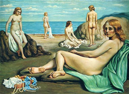 Bathers on the beach - Giorgio de Chirico