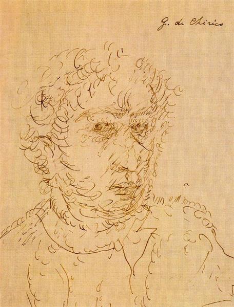 Self Portrait, 1923 - Giorgio de Chirico