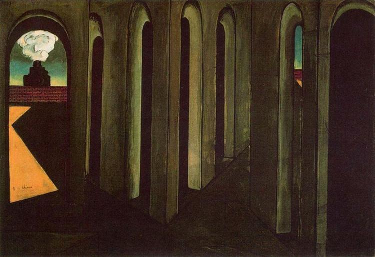 The anxious journey, 1913 - Giorgio de Chirico