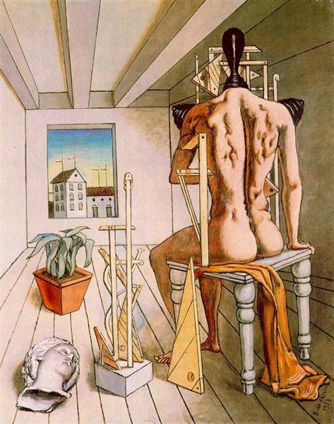 The muse of silence, 1973 - Giorgio de Chirico