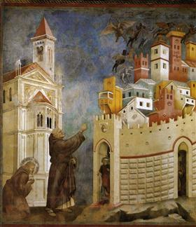 Exorcism of the Demons at Arezzo - Giotto
