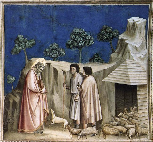 Joachim among the Shepherds, c.1304 - c.1306 - Giotto