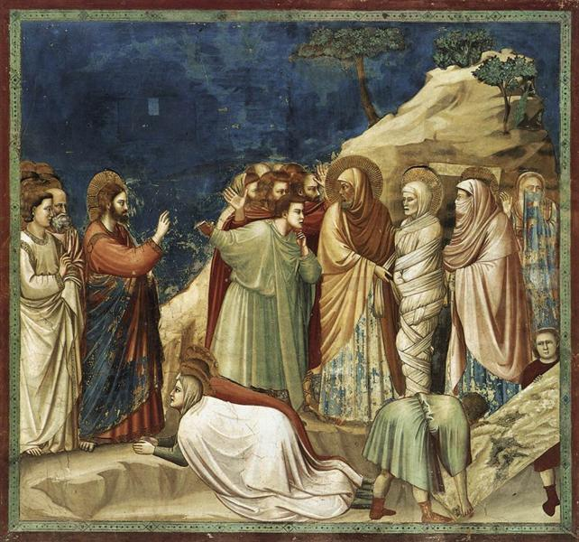Raising of Lazarus, c.1304 - c.1306 - Giotto