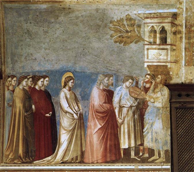 The Virgin's Wedding Procession, 1305 - Giotto