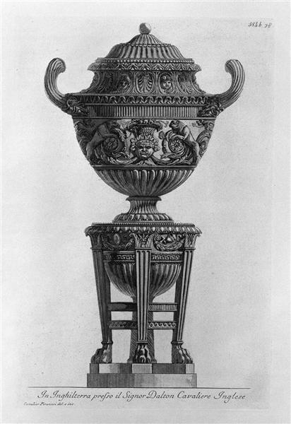 Another vessel supported by tripod, 1778 - Giovanni Battista Piranesi