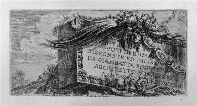 Arch of Septimius Severus - Giovanni Battista Piranesi