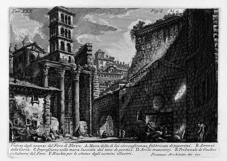 The Roman antiquities, t. 1, Plate XXX. Forum Nervae., 1756