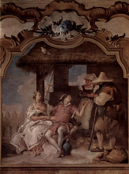 Angelica and Medorus accompanied by two peasants, 1757 - Giovanni Battista Tiepolo