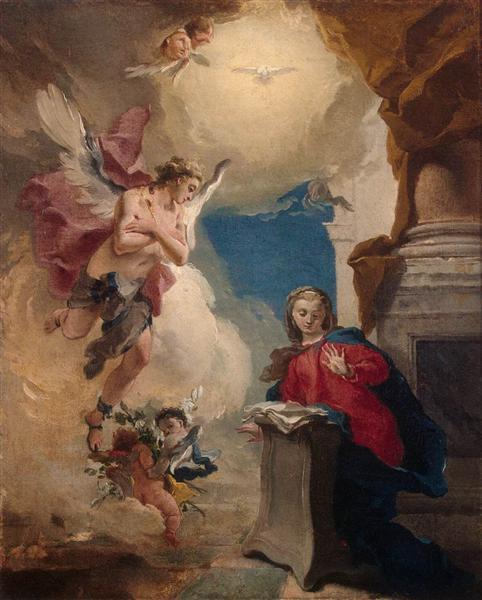 Annunciation, 1724 - 1725 - Giovanni Battista Tiepolo