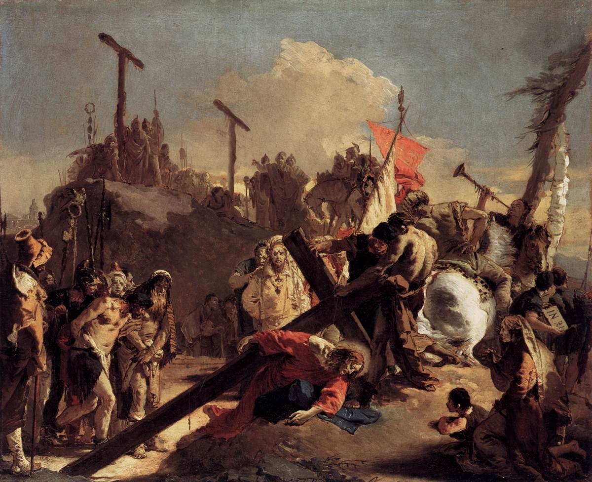 Carrying the Cross - Giovanni Battista Tiepolo - WikiArt ...
