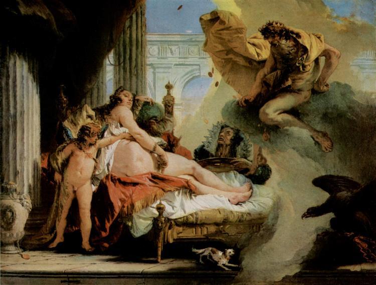 Jupiter and Danae, c.1736 - Giovanni Battista Tiepolo