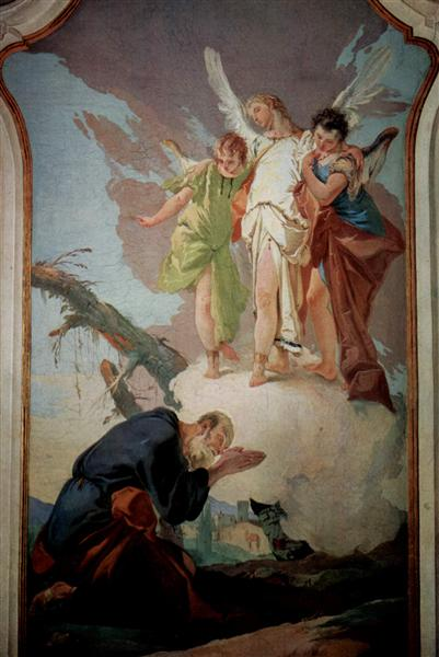 The appearance of the angels to Abraham, 1726 - 1728 - Джованни Баттиста Тьеполо
