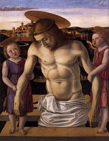 Dead Christ Supported by Two Angels, c.1460 - Giovanni Bellini