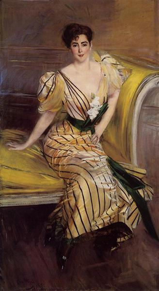 Portrait of Madame Josephina Alvear de Errazuriz, 1892 - Giovanni Boldini