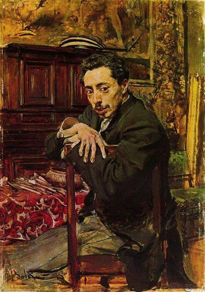 Portrait of the Painter Joaquin Araujo Ruano, c.1882 - Giovanni Boldini