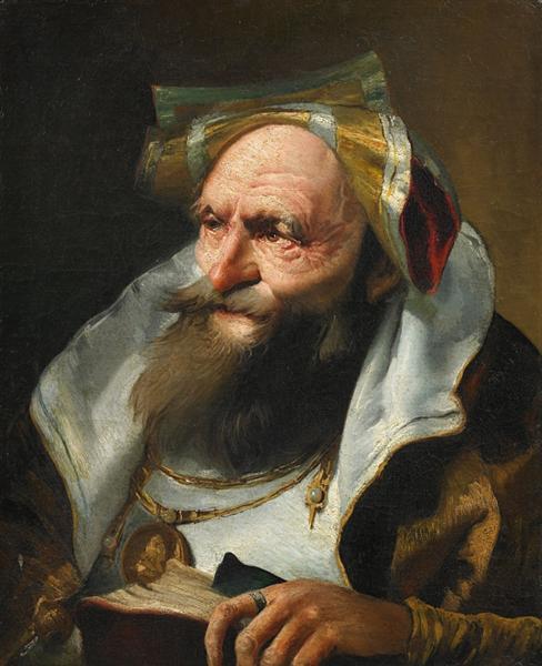 Head of a Scholar - Giovanni Domenico Tiepolo