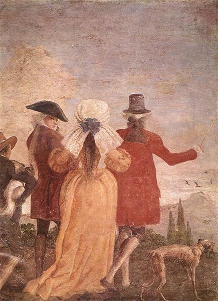 The Walk, c.1791 - Giovanni Domenico Tiepolo