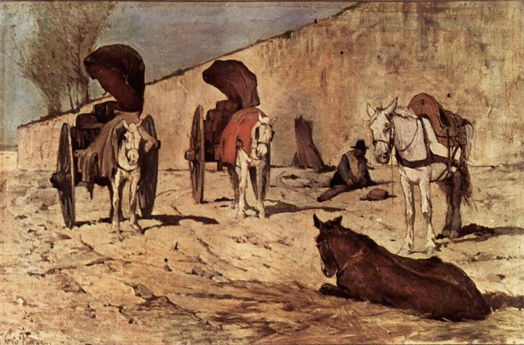 Carri romani, 1872 - Giovanni Fattori