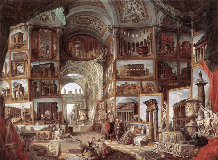 Roman ruins and sculpture, c.1754 - c.1757 - Giovanni Paolo Panini