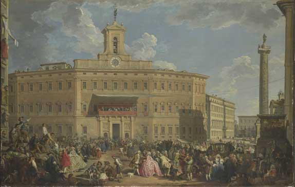 The Lottery at Palazzo Montecitorio, 1747 - Giovanni Paolo Panini