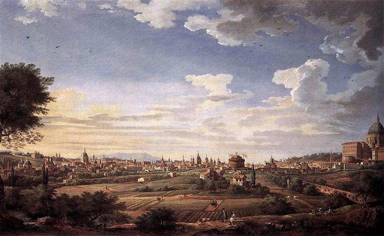 View of Rome from Mt. Mario, in the Southeast, 1749 - Giovanni Paolo Panini