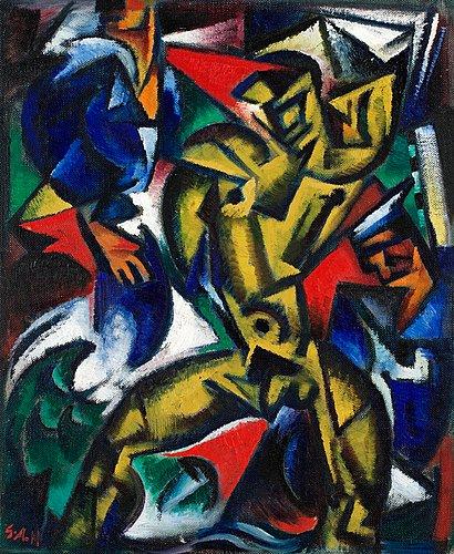 Gul figur, 1917 - Gosta Adrian-Nilsson