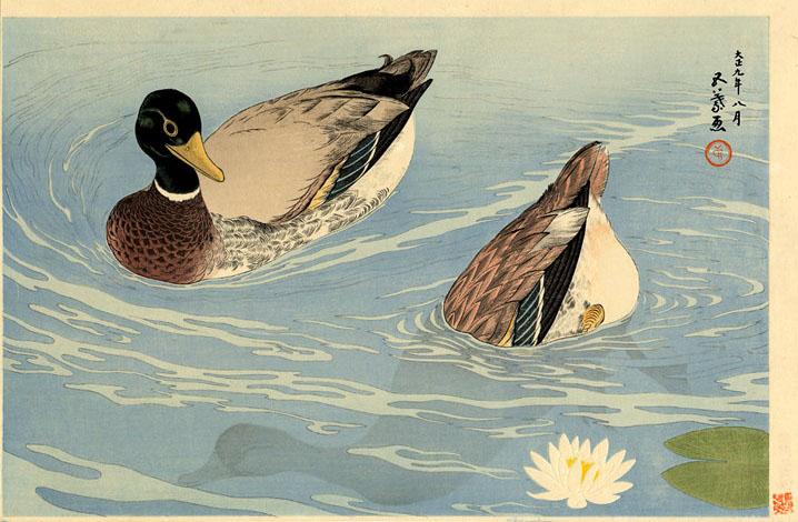 Patos, 1920 - Goyō Hashiguchi