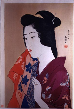 Woman With a Hand Towel, 1920 - Goyo Hashiguchi
