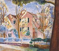 House with trees - Grace Cossington Smith