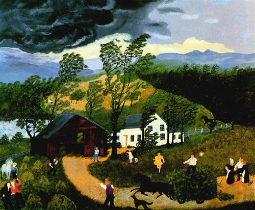The Thunderstorm - Grandma Moses
